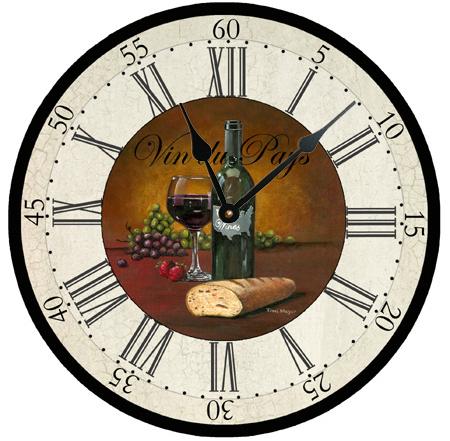 USA Wine Clock by Ohio Artist Terri Meyer